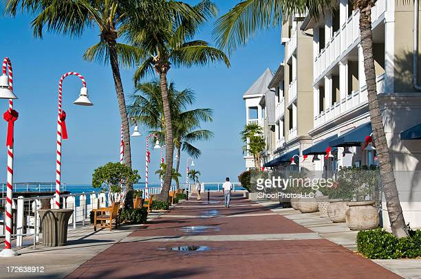 seaside promenade in key west, florida - florida christmas stock pictures, royalty-free photos & images