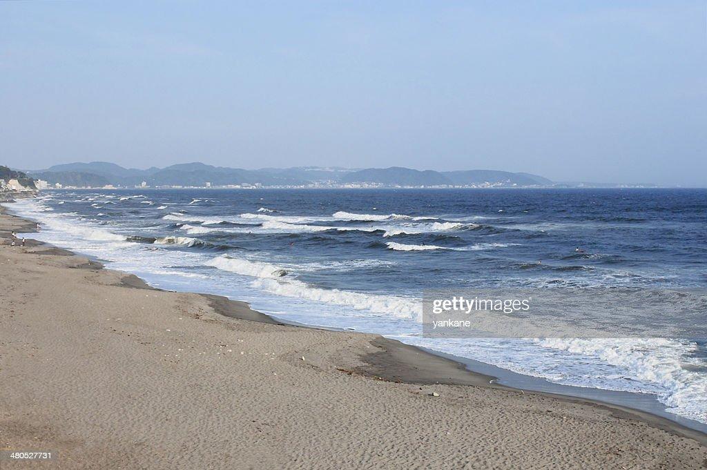 海辺のリゾート、神奈川県「鎌倉」 : ストックフォト