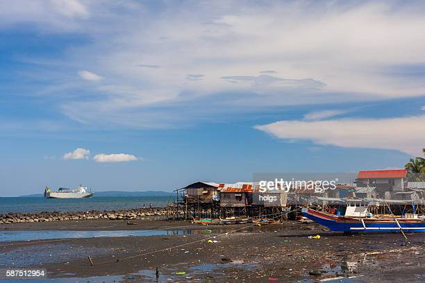 Seaside street in Davao, Philippines