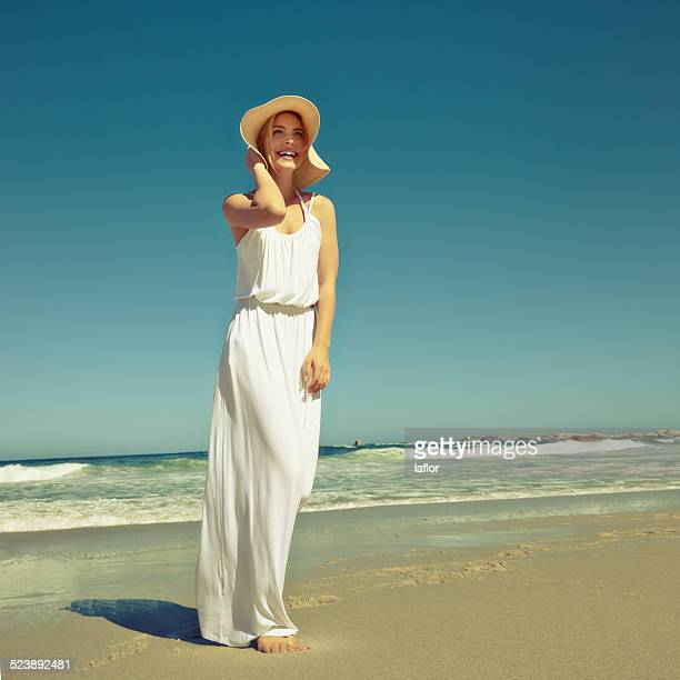 seaside styling - sundress stock pictures, royalty-free photos & images