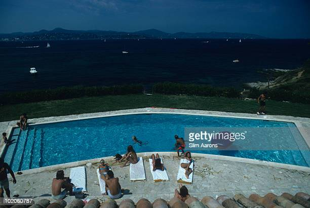 A seaside swimming pool in SaintTropez on the French Riviera August 1977