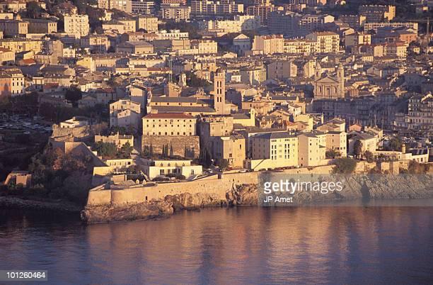 Seaside village of Bastia, Corsica, France