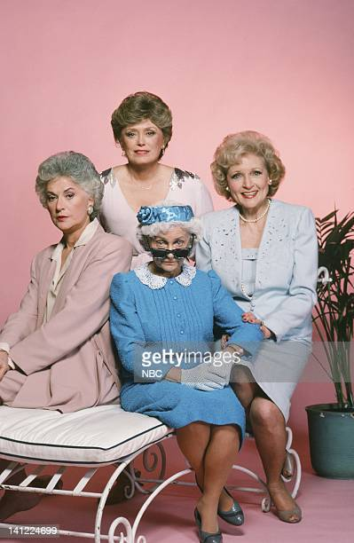 Season 1 -- Pictured: Bea Arthur as Dorothy Petrillo, Rue McClanahan as Blanche Devereaux, Estelle Getty as Sophia Petrillo-- Photo by: Herb...