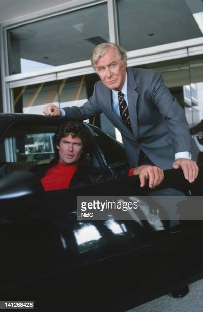 David Hasselhoff as Michael Knight Edward Mulhare as Devon Miles Photo by Ron Tom/NBCU Photo Bank
