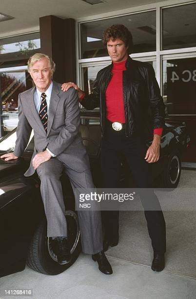 Edward Mulhare as Devon Miles David Hasselhoff as Michael Knight Photo by Ron Tom/NBCU Photo Bank