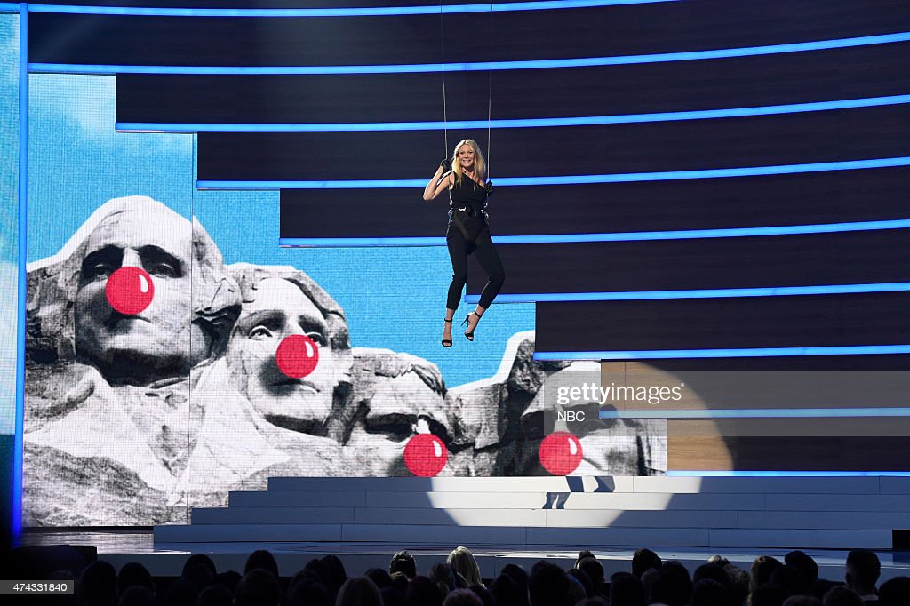 Gwyneth Paltrow onstage at NBC's 'Red Nose Day' Charity Event at the Hammerstein Ballroom in New York, NY on May 21, 2015 --