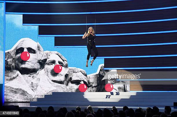 1 Pictured Gwyneth Paltrow onstage at NBC's 'Red Nose Day' Charity Event at the Hammerstein Ballroom in New York NY on May 21 2015