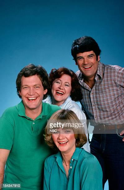 Host David Letterman cast/writers Edie McClurg Valri Bromfield Gerard Mulligan
