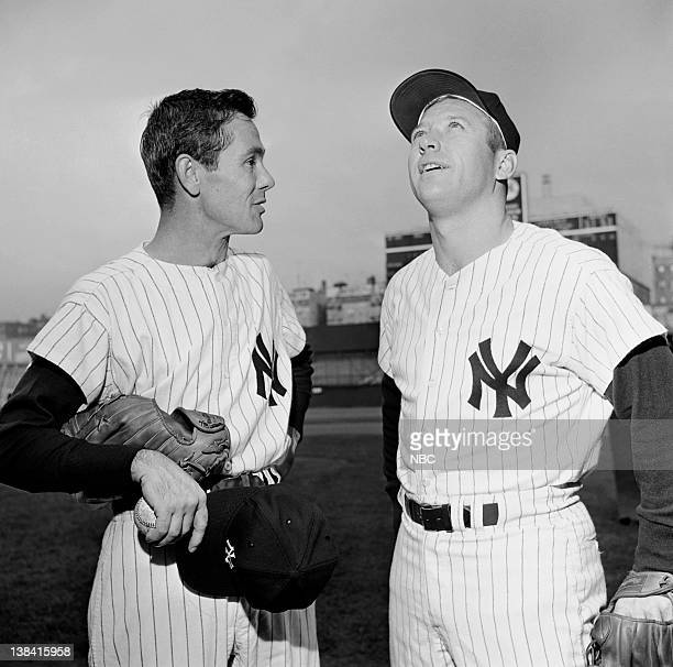 Host Johnny Carson Mickey Mantle