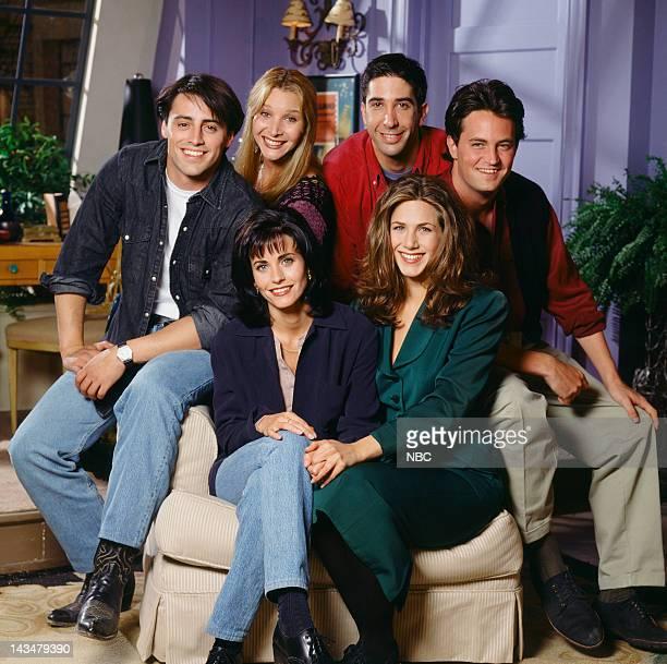 Season 1 -- Pictured: Matt LeBlanc as Joey Tribbiani, Lisa Kudrow as Phoebe Buffay, David Schwimmer as Ross Geller, Matthew Perry as Chandler Bing...