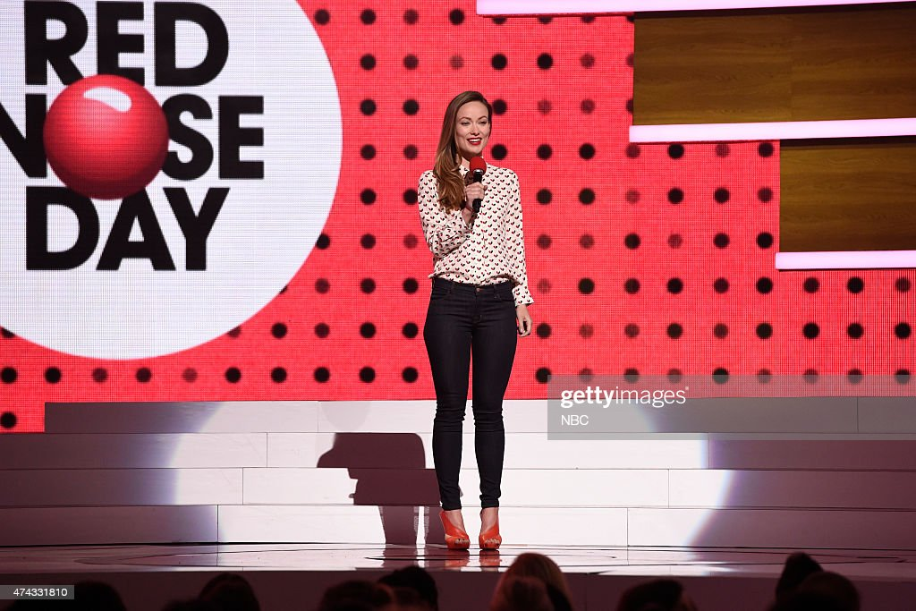 Olivia Wilde onstage at NBC's 'Red Nose Day' Charity Event at the Hammerstein Ballroom in New York, NY on May 21, 2015 --