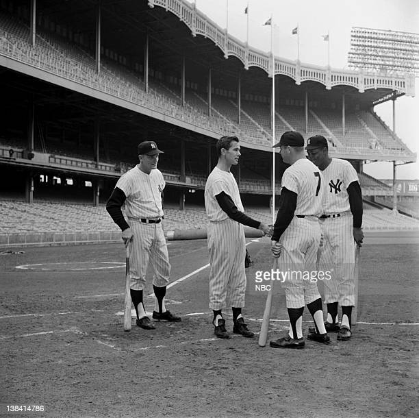 Roger Maris Johnny Carson Mickey Mantle Elston Howard