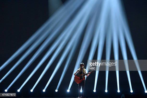1 Pictured Sawyer Fredericks performs onstage at NBC's 'Red Nose Day' Charity Event at the Hammerstein Ballroom in New York NY on May 21 2015