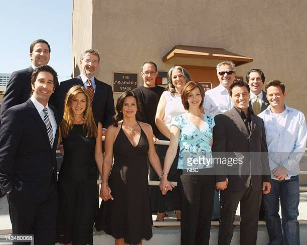David Schwimmer Jennifer Aniston Courteney Cox Lisa Kudrow Matt LeBlanc Matthew Perry Executive producer/Executive VP Warner Brothers Bruce Rosenblum...