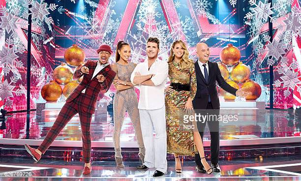 11 America's Got Talent Holiday Spectacular Pictured Nick Cannon Mel B Simon Cowell Heidi Klum Howie Mandel
