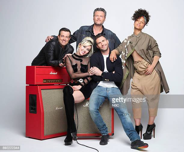 11 Pictured Carson Daly Miley Cyrus Blake Shelton Adam Levine Alicia Keys