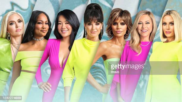 Season 11 -- Pictured: Erika Girardi, Garcelle Beauvais, Crystal Kung Minkoff, Kyle Richards, Lisa Rinna, Sutton Stracke, Dorit Kemsley --
