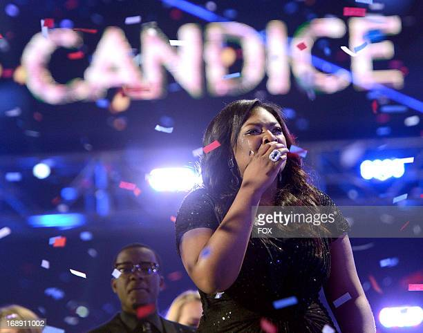 Season 12 winner Candice Glover onstage at FOX's American Idol Season 12 Live Finale Show at Nokia Theatre LA Live on May 16 2013 in Los Angeles...