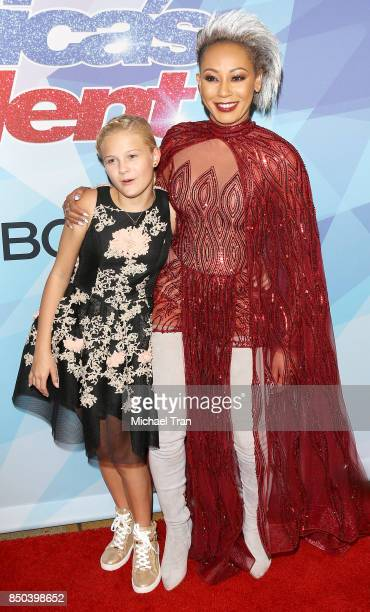 Season 12 winner Darci Lynne Farmer and Melanie Brown aka Mel B attend NBC's 'America's Got Talent' Season 12 Finale held at Dolby Theatre on...