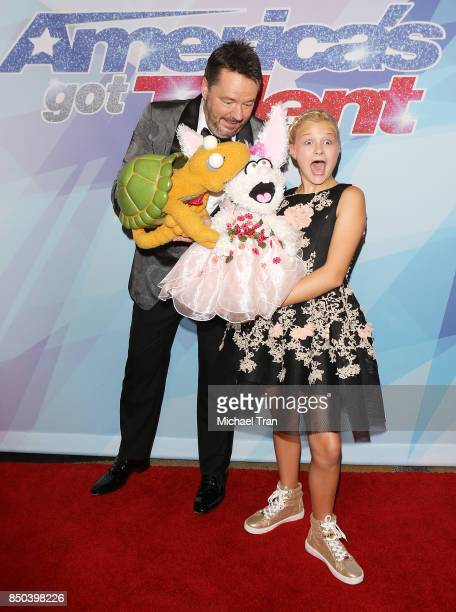 Season 12 winner Darci Lynne Farmer and Terry Fator attend NBC's 'America's Got Talent' Season 12 Finale held at Dolby Theatre on September 20 2017...