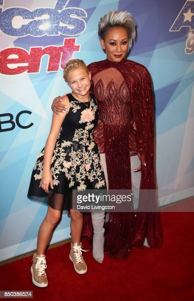Season 12 winner ventriloquist Darci Lynne Farmer and singer/TV personality Mel B attend NBC's 'America's Got Talent' season 12 finale at Dolby...