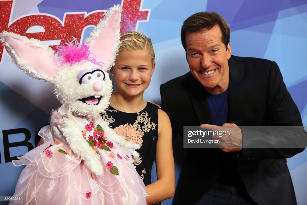 Season 12 winner ventriloquist Darci Lynne Farmer (L) and ventriloquist Jeff Dunham attend NBC's 'America's Got Talent' season 12 finale at Dolby Theatre on September 20, 2017 in Hollywood, California.