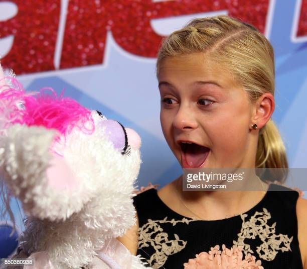 Season 12 winner ventriloquist Darci Lynne Farmer attends NBC's America's Got Talent season 12 finale at Dolby Theatre on September 20 2017 in...