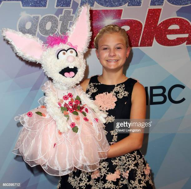 Season 12 winner ventriloquist Darci Lynne Farmer attends NBC's 'America's Got Talent' season 12 finale at Dolby Theatre on September 20 2017 in...