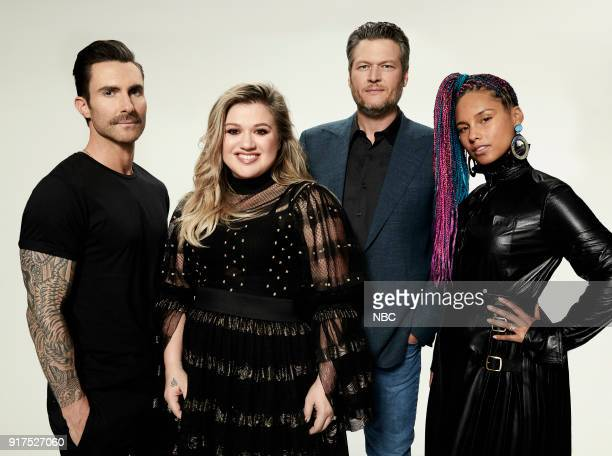 14 Pictured Adam Levine Kelly Clarkson Blake Shelton Alicia Keys