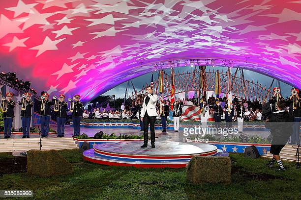Season 15 winner Trent Harmon performs at the 27th National Memorial Day Concert on May 29 2016 in Washington DC