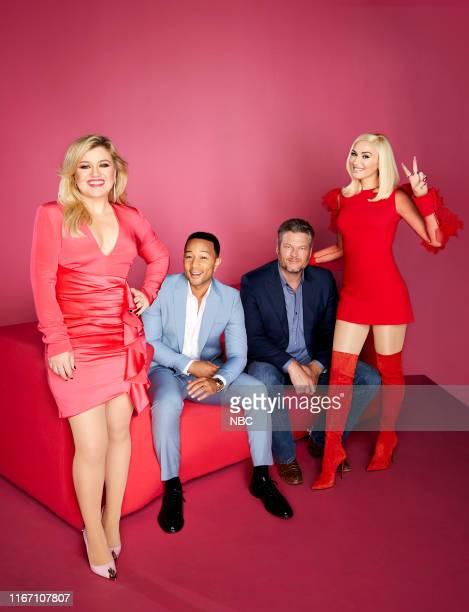17 Pictured Kelly Clarkson John Legend Blake Shelton Gwen Stefani