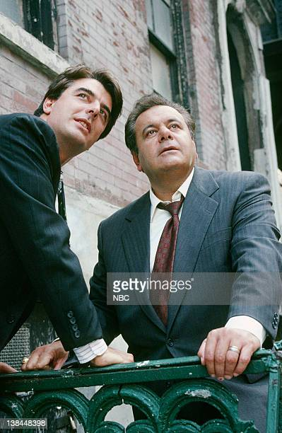 Chris Noth as Detective Mike Logan and Paul Sorvino as Det Sgt Philip 'Phil' Cerreta