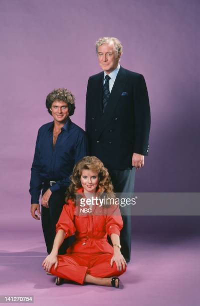David Hasselhoff as Michael Knight Edward Mulhare as Devon Miles Rebecca Holden as April Curtis Photo by Herb Ball/NBCU Photo Bank