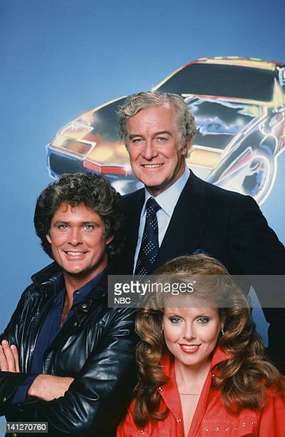 Season 2 -- Pictured: David Hasselhoff as Michael Knight, Edward Mulhare as Devon Miles, Rebecca Holden as April Curtis -- Photo by: Herb Ball/NBCU...