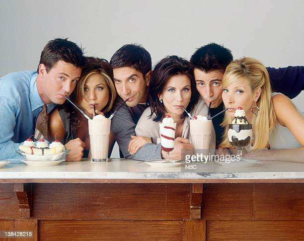 Season 2 -- Pictured: Matthew Perry as Chandler Bing, Jennifer Aniston as Rachel Green, David Schwimmer as Ross Geller, Courteney Cox as Monica...