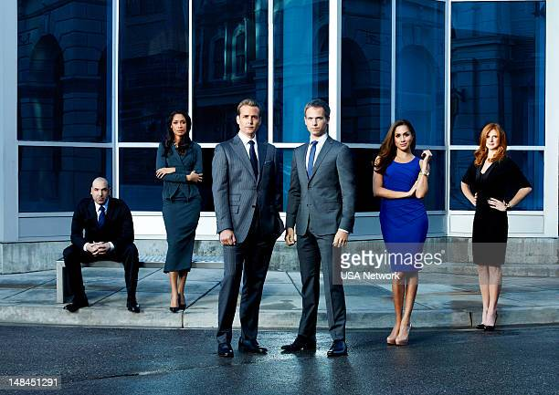2 Pictured Rick Hoffman as Louis Litt Gina Torres as Jessica Pearson Gabriel Macht as Harvey Specter Patrick J Adams as Mike Ross Meghan Markle as...