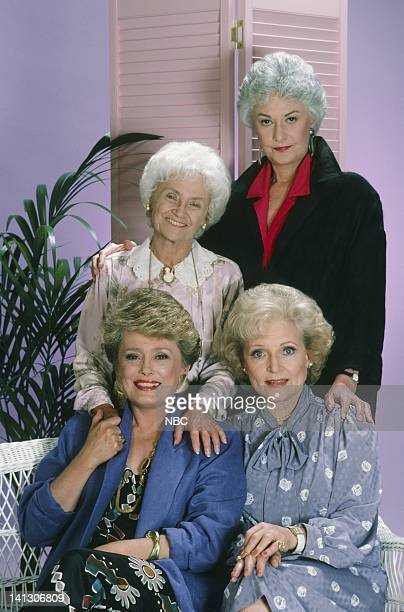 Season 2 -- Pictured: Rue McClanahan as Blanche Devereaux, Estelle Getty as Sophia Petrillo, Betty White as Rose Nylund, Bea Arthur as Dorothy...