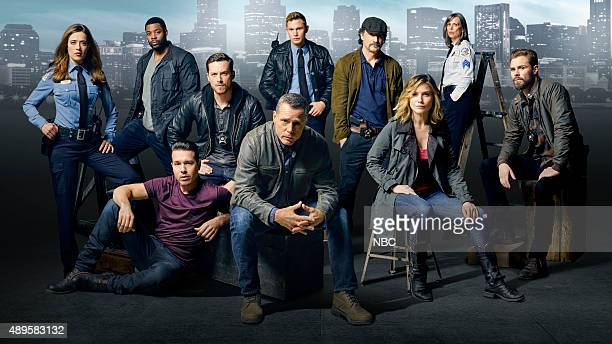 2 Pictured top row Marina Squerciati as Officer Kim Burgess LaRoyce Hawkins as Detective Kevin Atwater Brian Geraghty as Officer Sean Roman Jesse Lee...