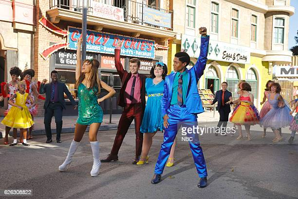 2016 Pictured Ariana Grande as Penny Pingleton Garrett Clayton as Link Larkin Maddie Baillio as Tracy Turnblad Ephraim Sykes as Seaweed J Stubbs