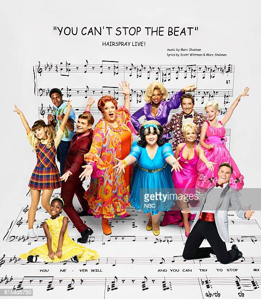 Season: 2016 -- Pictured: back row: Ephraim Skyes as Seaweed J. Stubbs, Jennifer Hudson as Motormouth Maybelle, Martin Short as Wilbur Turnblad, Dove...