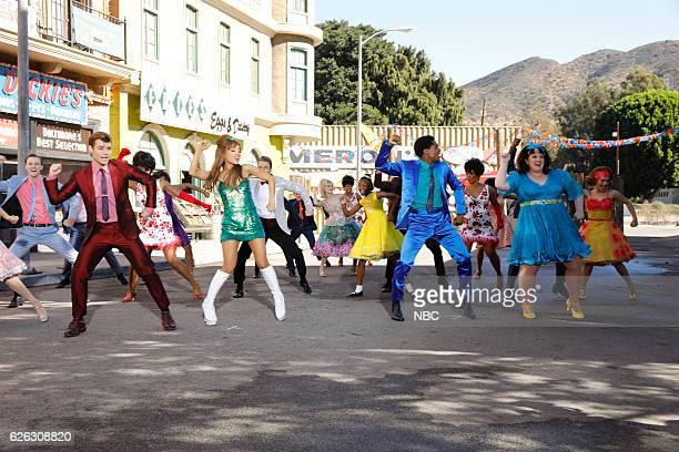 2016 Pictured Garrett Clayton as Link Larkin Ariana Grande as Penny Pingleton Ephraim Sykes as Seaweed J Stubbs Maddie Baillio as Tracy Turnblad