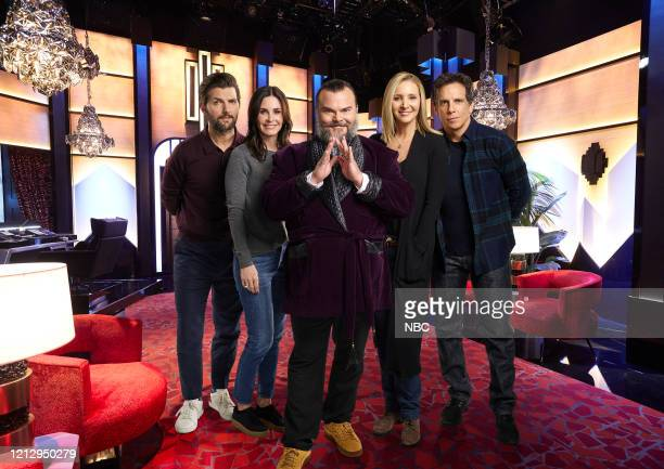 Season: 2020 -- Celebrity Escape Room -- Pictured: Adam Scott, Courtney Cox, Jack Black, Lisa Kudrow, Ben Stiller --