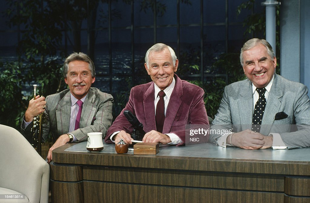 Bandleader Doc Severinsen, host Johnny Carson, announcer Ed McMahon --