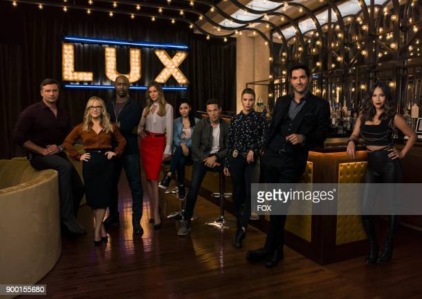 Season 3 of LUCIFER premieres Monday Oct 2 on FOX Pictured LR Tom Welling Rachael Harris DB Woodside Tricia Helfer Aimee Garcia Kevin Alejandro...