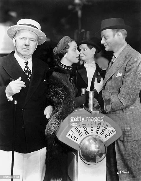 Cast WC Fields Dorothy Lamour Charlie McCarthy host Edgar Bergen in 1939 Photo by NBC/NBCU Photo Bank