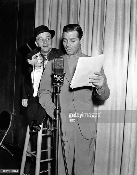 Charlie McCarthy host Edgar Bergen Clark Gable in 1939