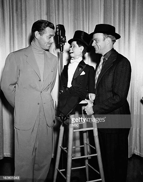 Clark Gable Charlie McCarthy host Edgar Bergen in 1939