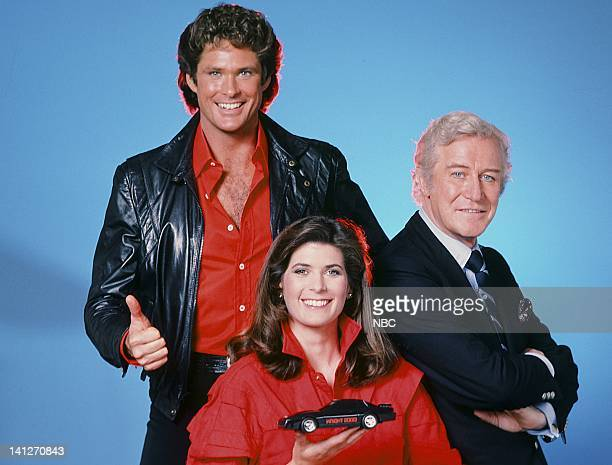 David Hasselhoff as Michael Knight Patricia McPherson as Bonnie Barstow Edward Mulhare as Devon Miles Photo by Gary Null/NBCU Photo Bank
