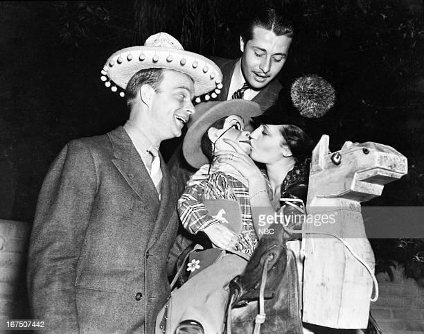 Edgar Bergen Charlie McCarthy Don Ameche Dorothy Lamour in 1939