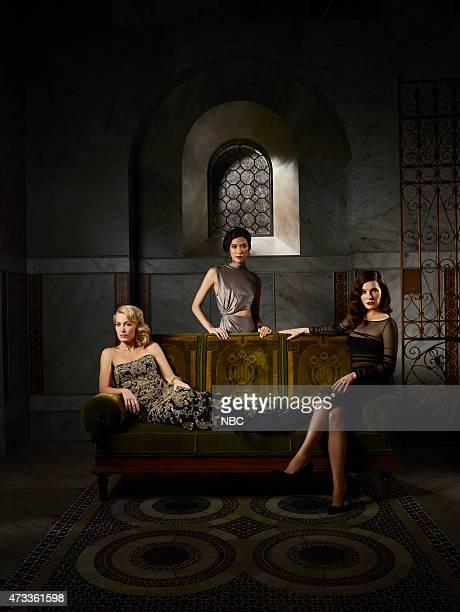 3 Pictured Gillian Anderson as Bedelia Du Maurier Tao Okamoto as Chiyoh Caroline Dhavernas as Alana Bloom